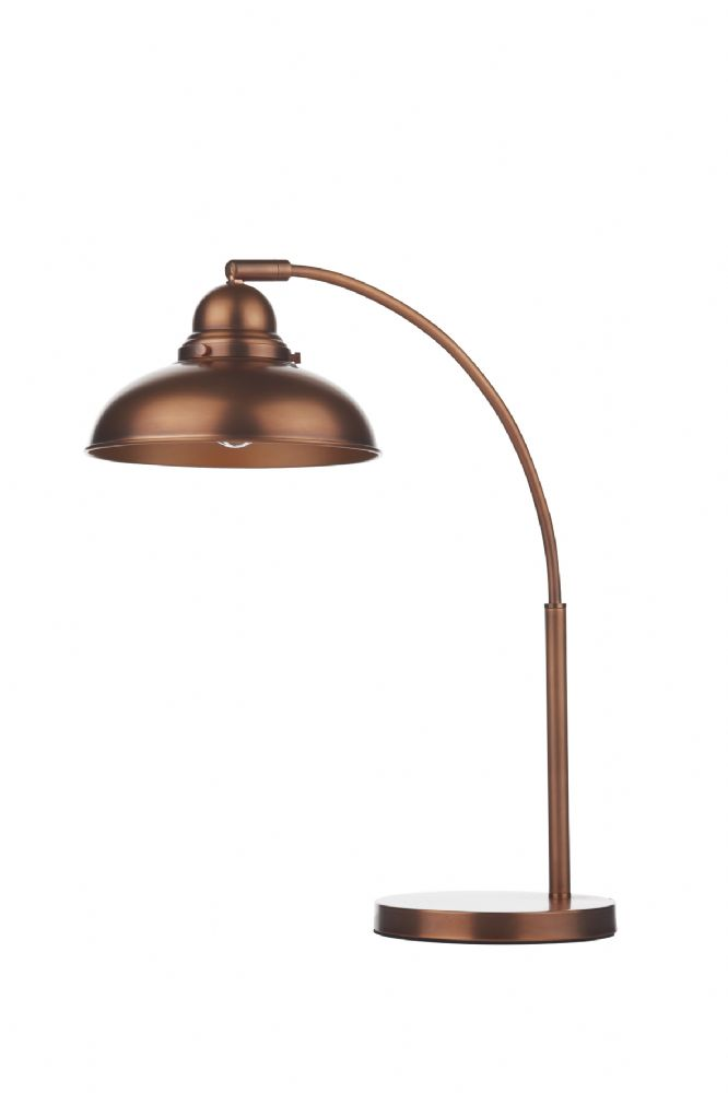 Dar Dynamo Table Lamp Antique Copper DYN4264 (Class 2 Double Insulated)